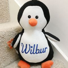 Personalised Soft Toy Animal Cubbie Penguin
